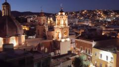 Viewpoint of colonial city Stock Footage