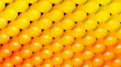 Yellow column array Stock Footage