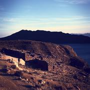 Chinkana archeological site on isla del sol in bolivia Stock Photos