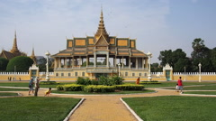Royal Palace and Silver Pagoda in Phnom Penh, Cambodia Stock Footage