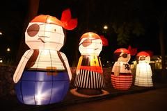 Thailand lantern for thailand new year celebration Stock Photos