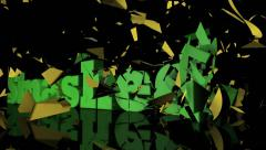 Price Smashed Text Animation Stock Footage