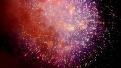 Firework brust Stock Footage