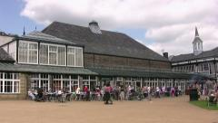 Buxton Pavilion visitors Stock Footage