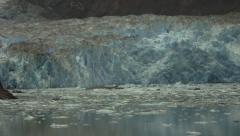 Alaska Glacier Ice at Tracy Arm Stock Footage