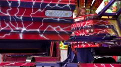 Twister fairground ride - stock footage