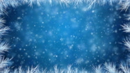 Stock Video Footage of Christmas branch with falling snowflakes and stars