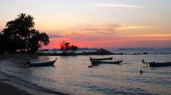 Sundown. North of Pattaya City, Thailand. Stock Footage