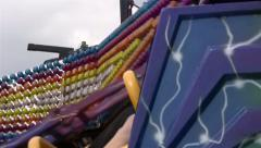Twister fairground ride Stock Footage