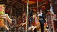 Stock Video Footage of Carousel at Southport