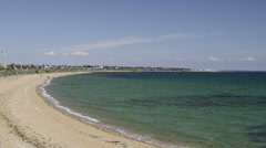 Melbourne Brighton Beach Ocean View Stock Footage
