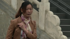 Chinese woman photographed Stock Footage