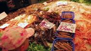 Stock Video Footage of Seafood and fish market La Boqueria, Barcelona