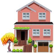 A big residential house - stock illustration