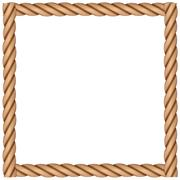 A frame made of rope Stock Illustration