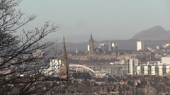 Glasgow University and surrounding area Glasgow Scotland Stock Footage