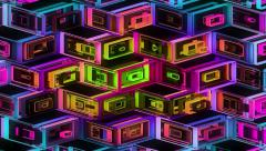 Neon Pattern 001 B Alternate Random GTC 4K Stock Footage