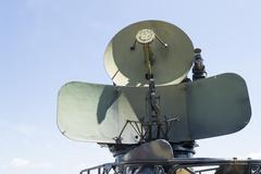 Military radar from cold war era Stock Photos