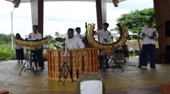Thai people play traditional thai musical instruments concert Stock Footage