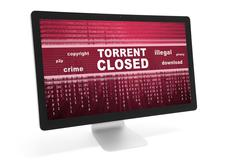 Torrent closed message Stock Photos