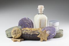 Hand made soap - composition Stock Photos