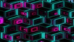 Stock Video Footage of Neon Pattern 001 B Alternate Strength TC 1080p