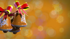 Christmas bells rotate (backgrounds) - stock footage