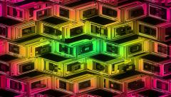 Stock Video Footage of Neon Pattern 001 B Alternate Wave GSC 4K