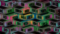Neon Pattern 001 B Alternate Wave GTC 4K - stock footage