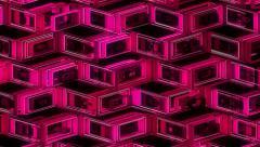 Neon Pattern 001 B Alternate Wave SC 4K - stock footage