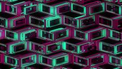 Neon Pattern 001 B Alternate Wave TC 4K - stock footage