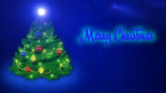 Merry Christmas - blue Stock Footage