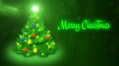Merry Christmas - green Stock Footage