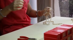 Pearls factory in Manacor - stock footage