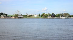 Chao Phraya River at Nonthaburi Thailand Stock Footage