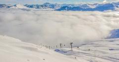 Gondolas Timelapse Alps 4k Stock Footage