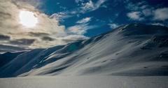 Snowy Mountains Timelapse 4k Stock Footage