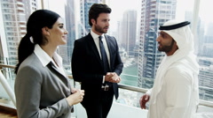 Stock Video Footage of Middle East international business team male female real estate development