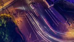 Dynamic Time Lapse of Traffic in Shanghai Stock Footage