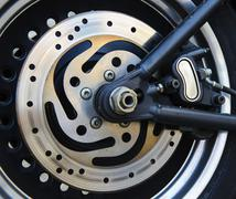 Motorbike disc brake Stock Photos