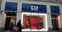 GAP Flagship store on Champs-Elysee in Paris, France Stock Footage
