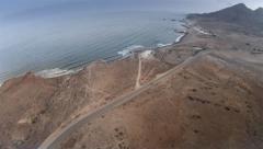 Aerial view of coastline in Cabo de Gata, Spain. 4k Stock Footage
