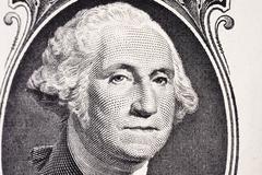 Portrait of president Washington on an one dollar bill Kuvituskuvat