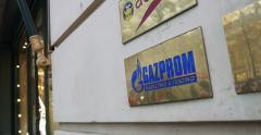 GAZPROM office Stock Footage