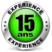 Stock Illustration of fifteen years experience icon