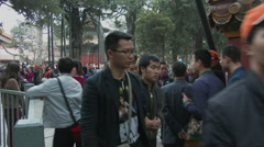 Emperial Garden of Forbidden City 3 Stock Footage