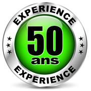 Fifty years experience icon Stock Illustration