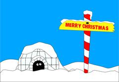 Merry christmas north pole Stock Illustration