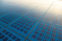 Stock Photo of Solar panel abstarct background