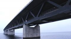 The Bridge  Oresund Sea Bridge Stock Footage